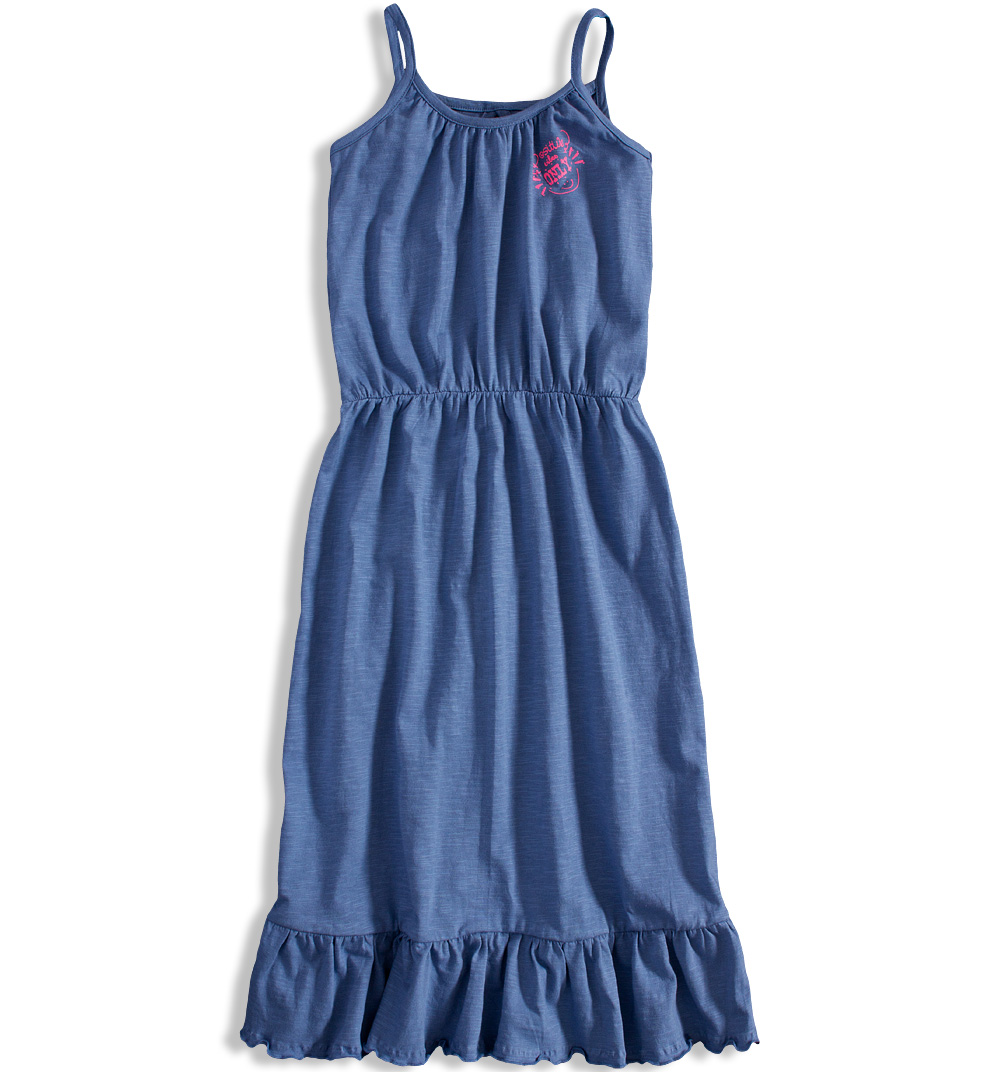Dívčí letní šaty DIRKJE POSITIVE VIBES modré Velikost: 164