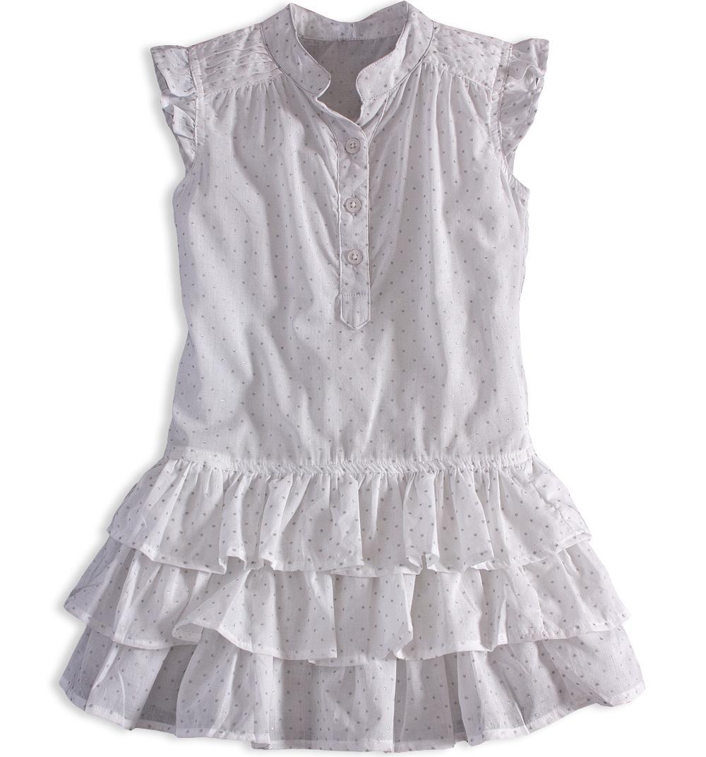 0c9f2ffe241 Dívčí letní šaty PEBBLESTONE GIRLS STAR bílé Velikost  104