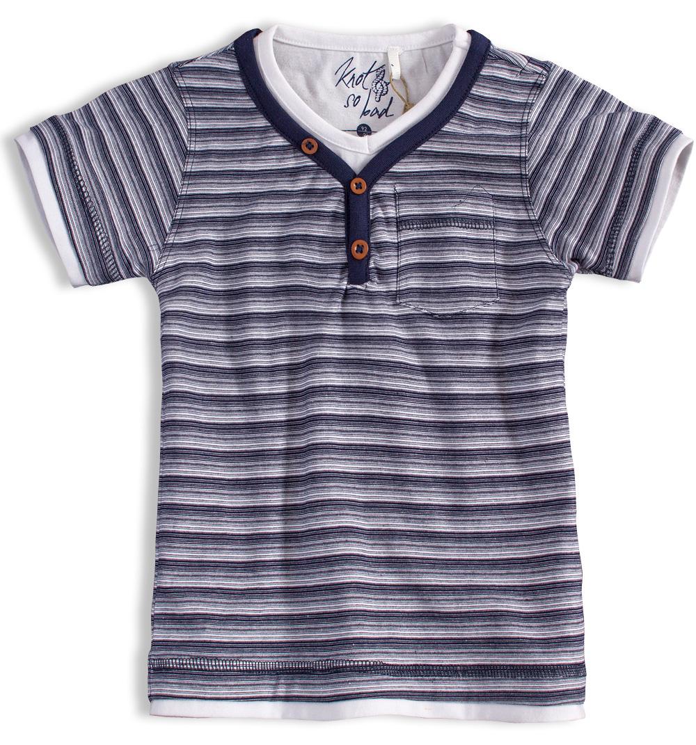 Chlapecké tričko KNOT SO BAD PROUŽKY modré Velikost: 152