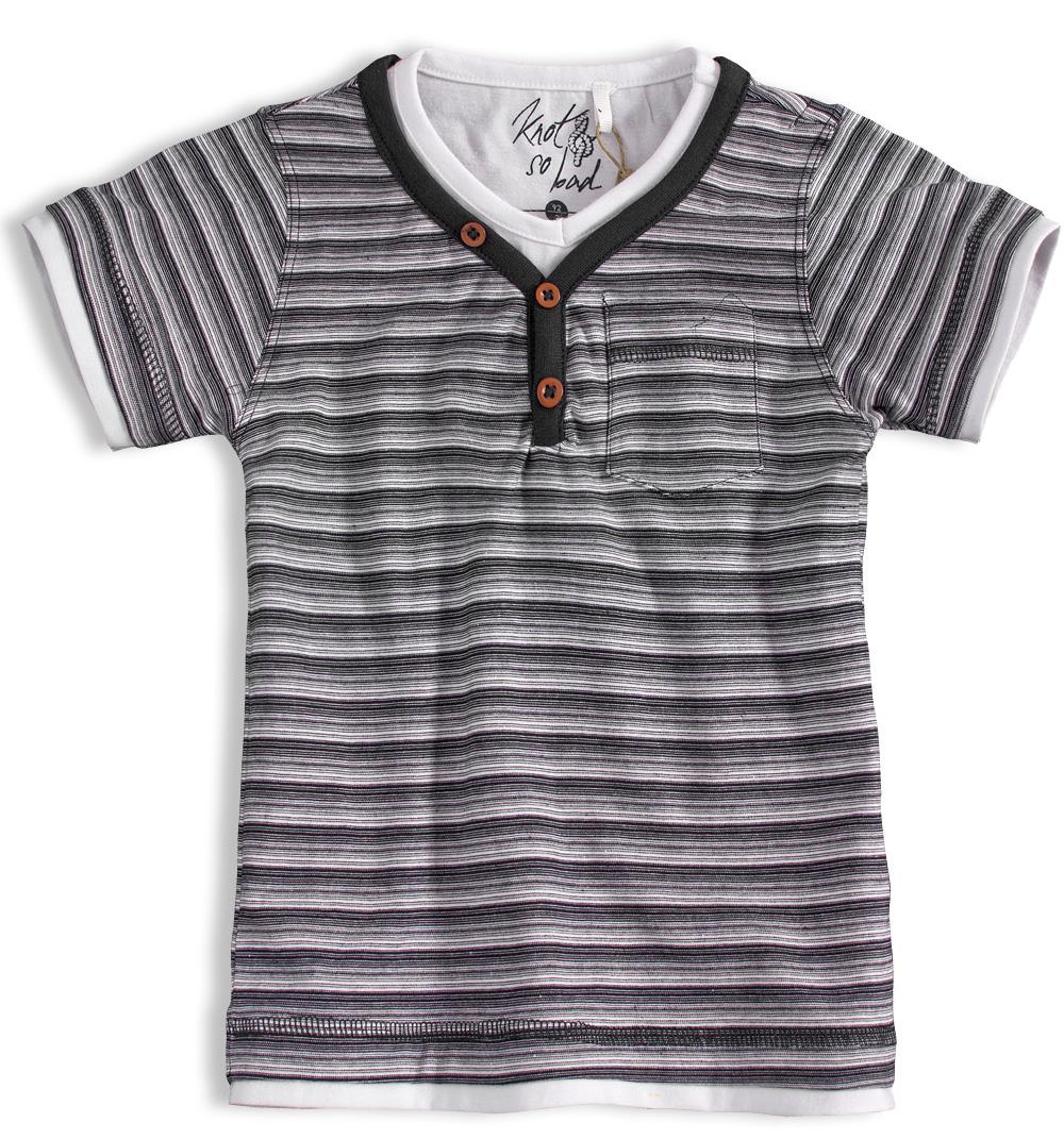 Chlapecké tričko KNOT SO BAD PROUŽKY šedé Velikost: 152
