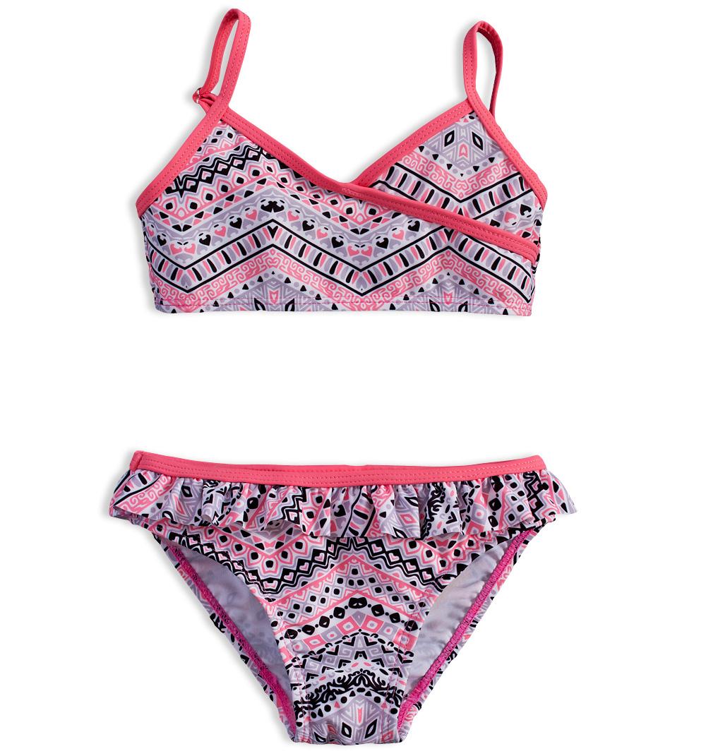 Dívčí plavky DIRKJE GEOMETRIC růžové Velikost: 104
