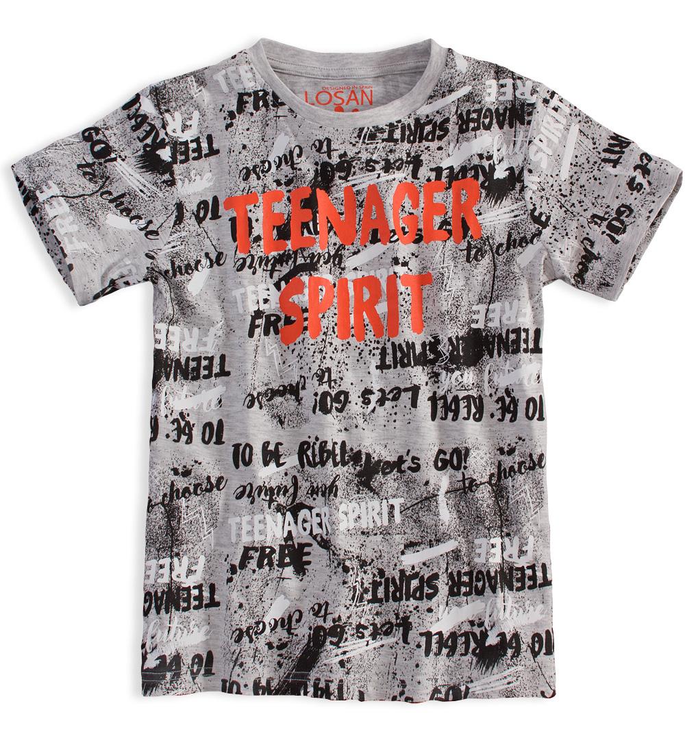 Chlapecké tričko s krátkým rukávem LOSAN SPIRIT šedé Velikost: 152