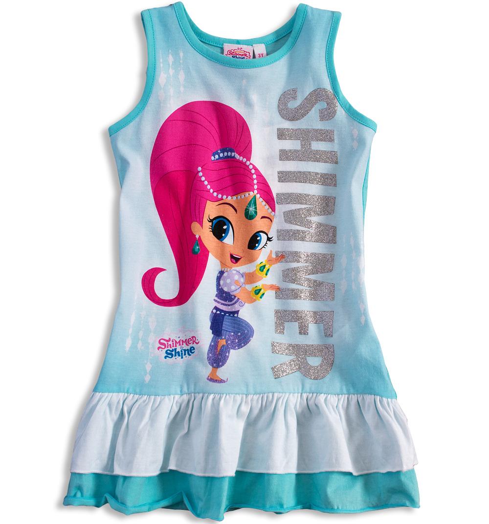 Dívčí letní šaty SHIMMER & SHINE SHIMMER tyrkysové Velikost: 98