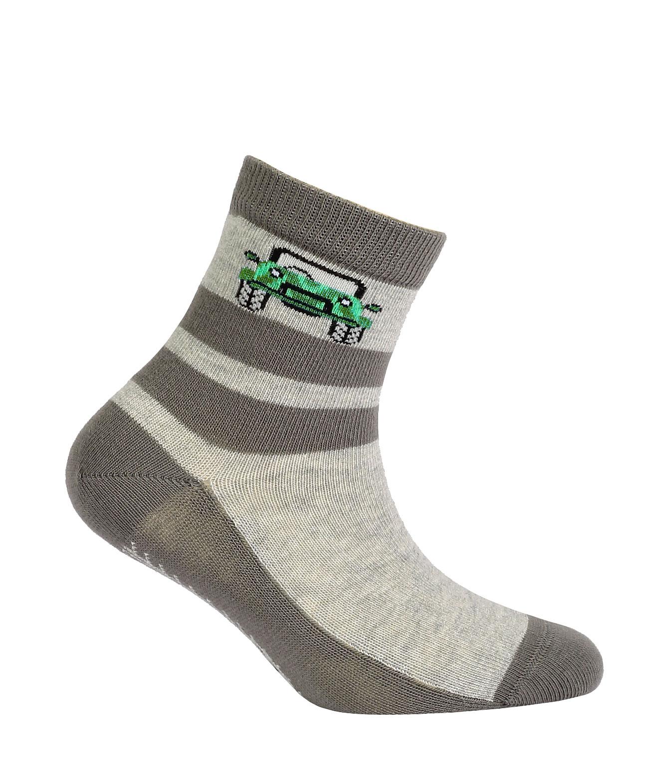 Chlapecké ponožky s obrázkem GATTA JEEP šedé Velikost: 21-23