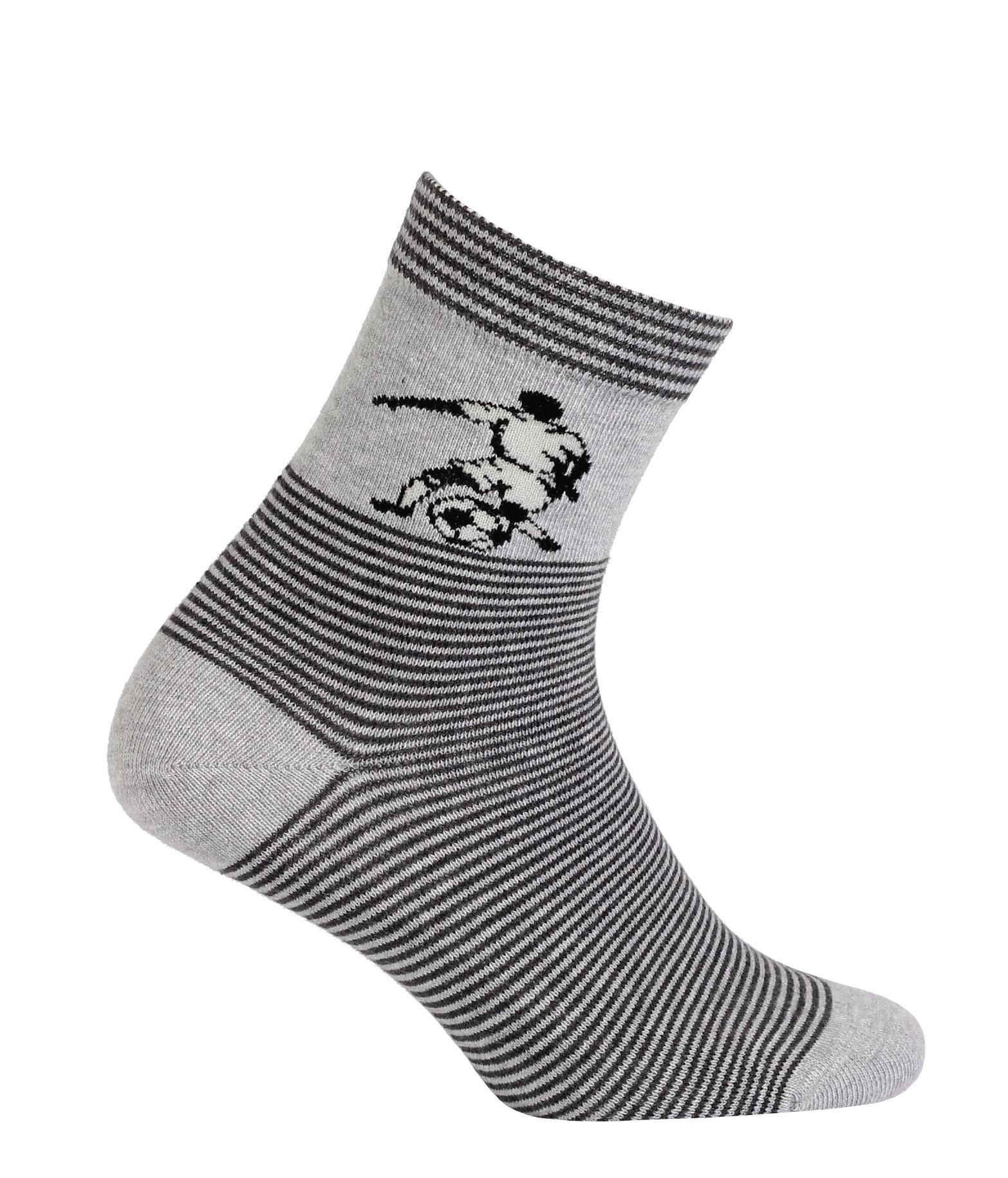9d0b2427b74 Chlapecké vzorované ponožky GATTA FOTBALISTA šedé Velikost  36-38