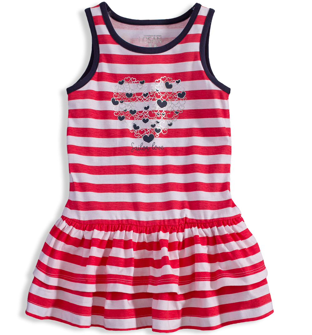 9673964039a Dívčí šaty LOSAN SAILOR LOVE červené Velikost  110