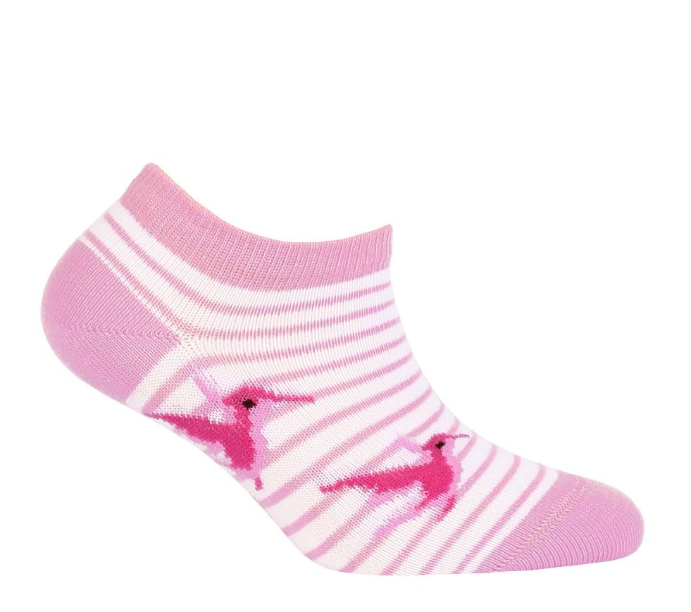 cb5f19d1aaa Dívčí kotníkové ponožky WOLA PTÁČEK růžové Velikost  24-26