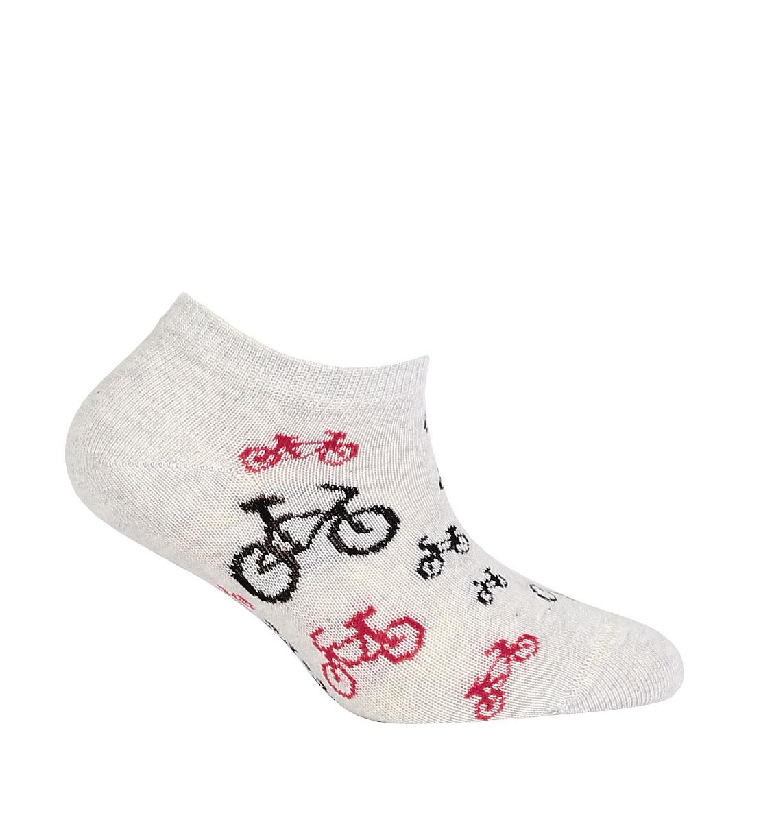 Dětské kotníkové ponožky WOLA CYKLO šedé Velikost  27-29 9464c686dd