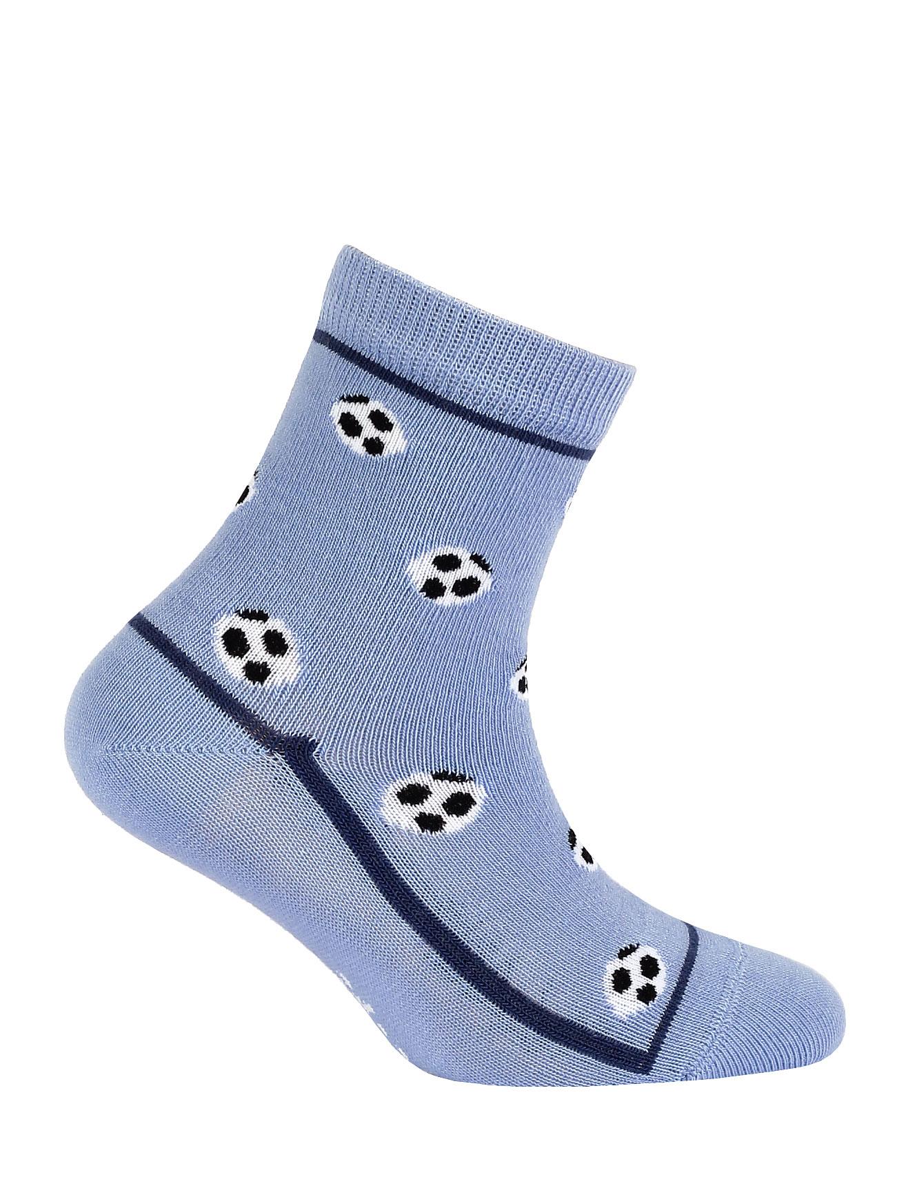 Chlapecké ponožky s obrázkem WOLA MÍČE modré Velikost: 24-26