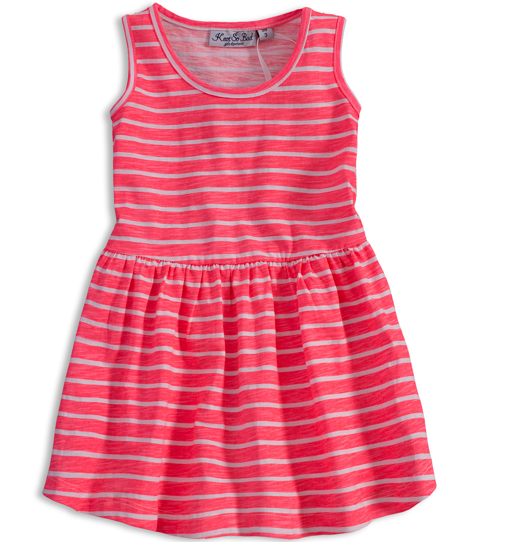 Dívčí šaty KNOT SO BAD PROUŽKY růžové Velikost: 164