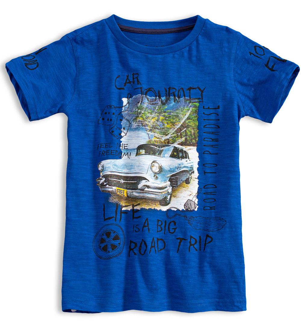Chlapecké tričko KNOT SO BAD ROAD TRIP modré Velikost: 152
