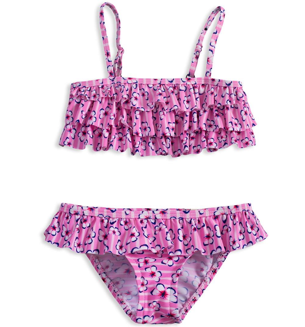Dívčí dvoudílné plavky KNOT SO BAD MOTÝLI růžové Velikost  92 931d92cb85