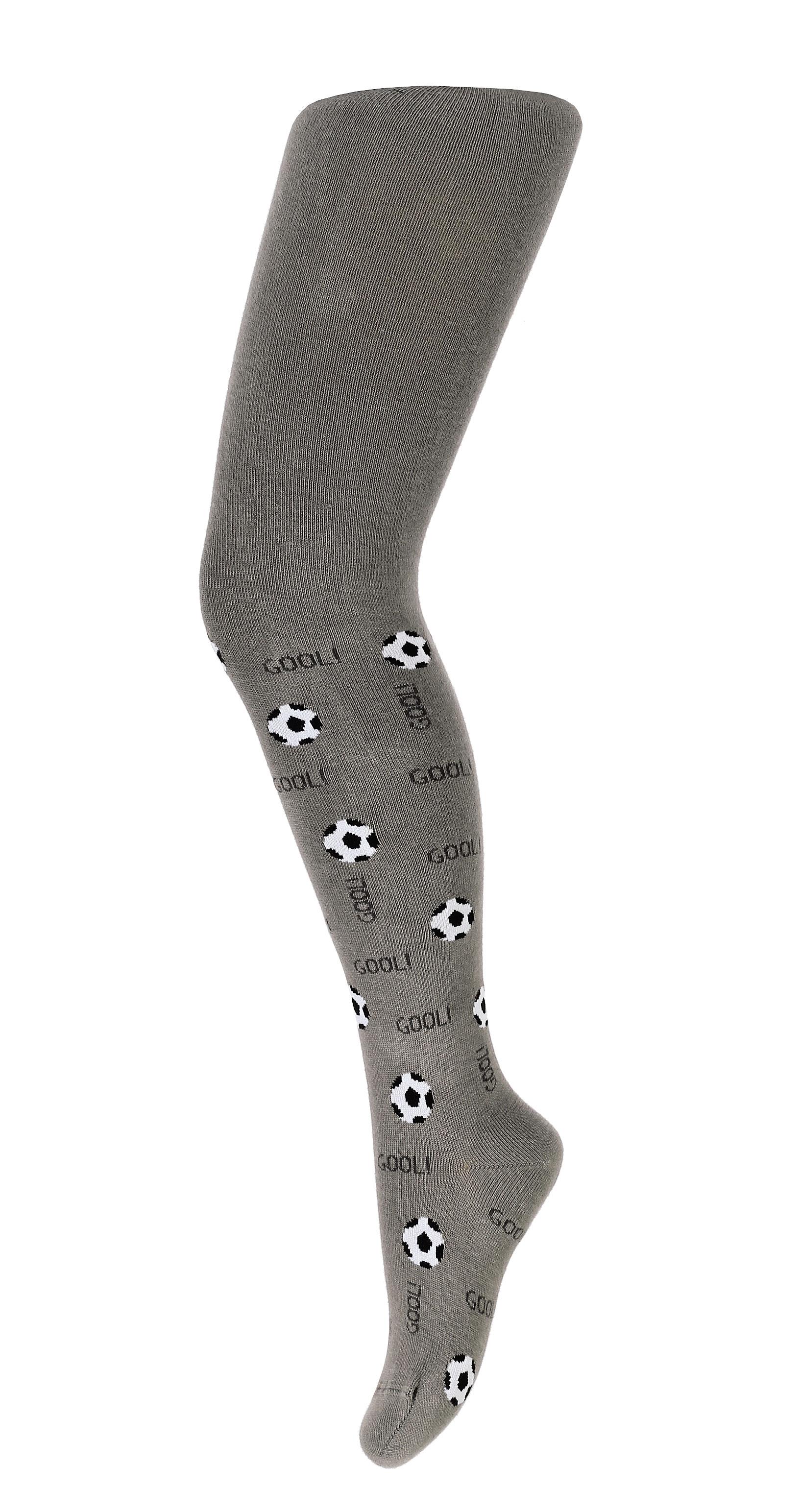 Vzorované chlapecké punčocháče WOLA FOTBALOVÉ MÍČE šedé Velikost: 128-134