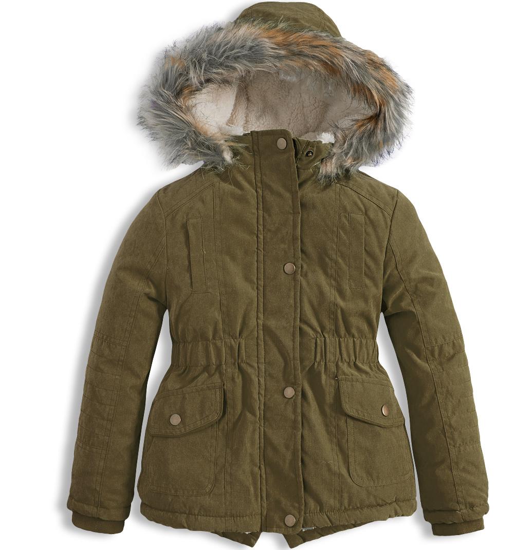 Dívčí zimní bunda KNOT SO BAD PARKA khaki Velikost: 92