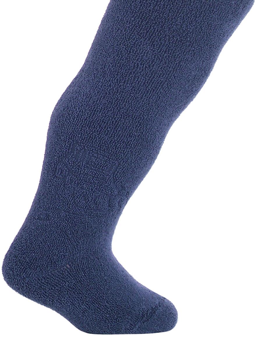 Kojenecké froté punčocháče WOLA BULDOZER tmavě modré Velikost: 62-74