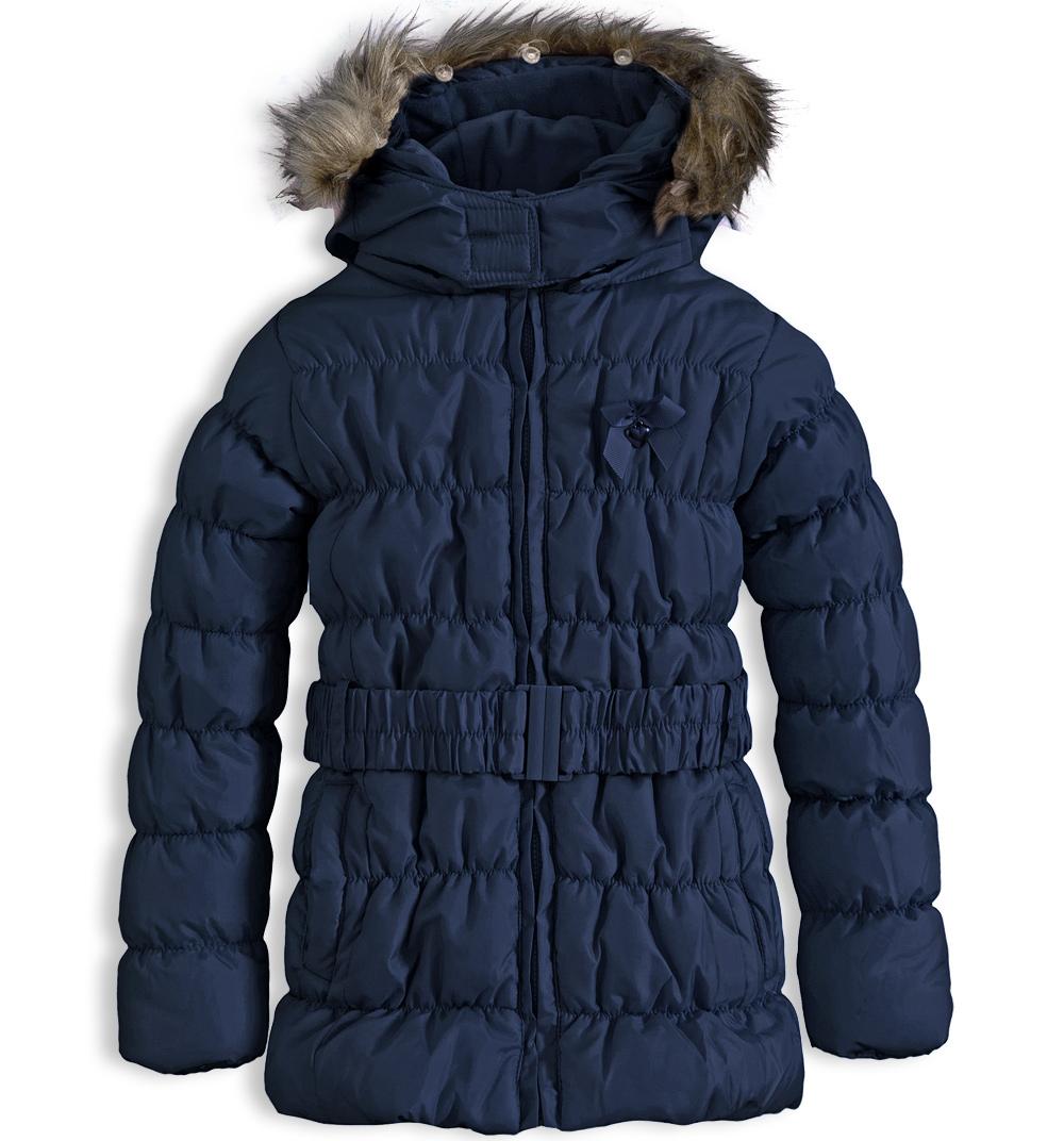 Dívčí zimní bunda KNOT SO BAD HEART tmavě modrá Velikost: 92