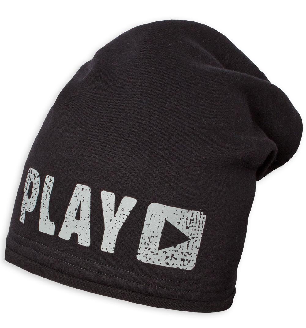 Chlapecká zimní čepice YETTY PLAY černá Velikost  49-52 cm c7aab0556f