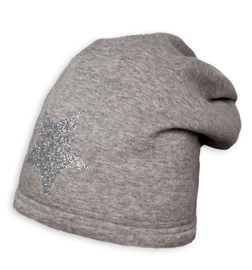 Dívčí zimní čepice YETTY HVĚZDA šedá Velikost: 49-52 cm