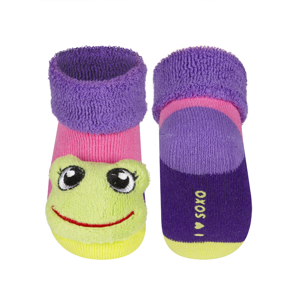 20ba686167b SOXO Kojenecké ponožky s chrastítkem ŽABKA růžové Velikost  16-18