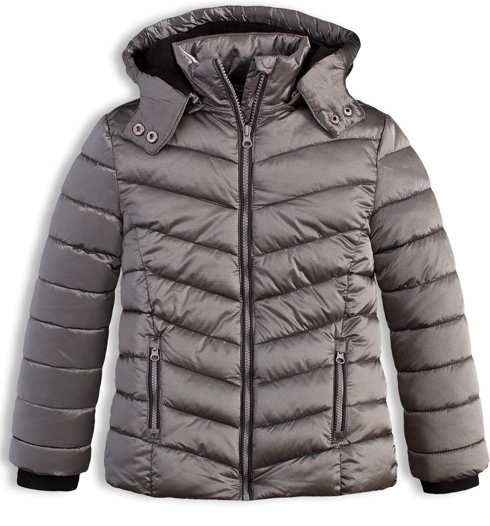 Dívčí zimní bunda LOSAN FASHION šedá Velikost: 128