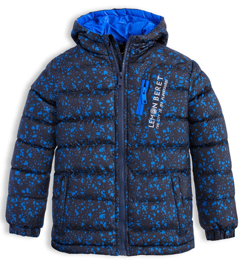 2e1216f6c548 Chlapecká zimní bunda LEMON BERET CITY černá Velikost  140