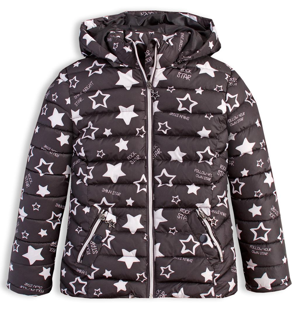 Dívčí zimní bunda LOSAN SHINY STAR černá Velikost: 128
