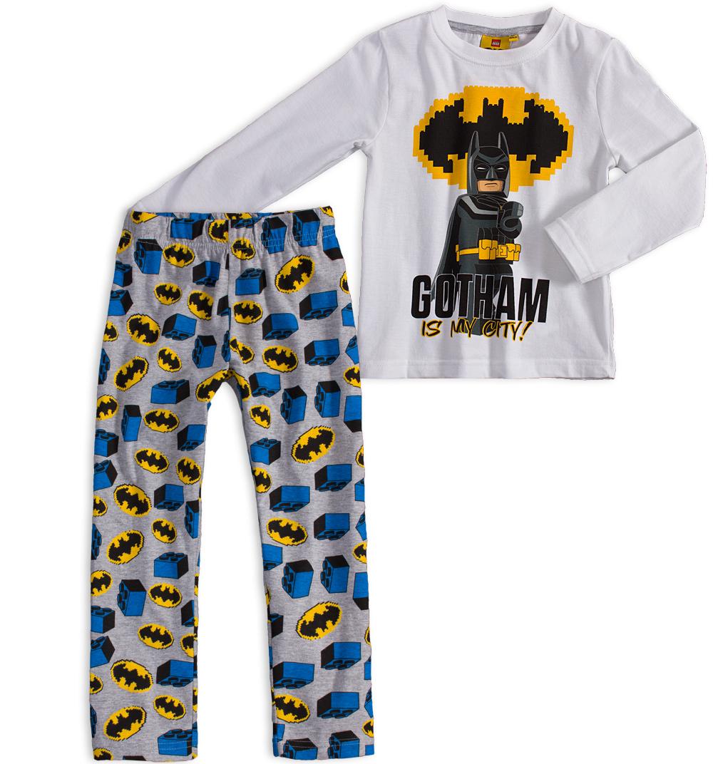 Chlapecké pyžamo LEGO BATMAN GOTHAM bílé Velikost: 104