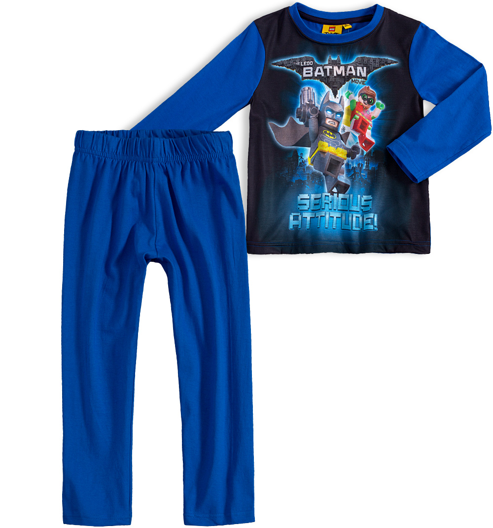 Chlapecké pyžamo LEGO BATMAN MOVIE modré Velikost: 104