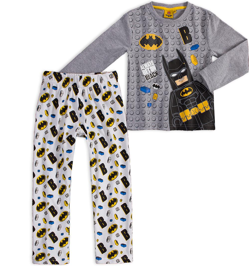 Chlapecké pyžamo LEGO BATMAN KOSTIČKY šedý melír Velikost: 110