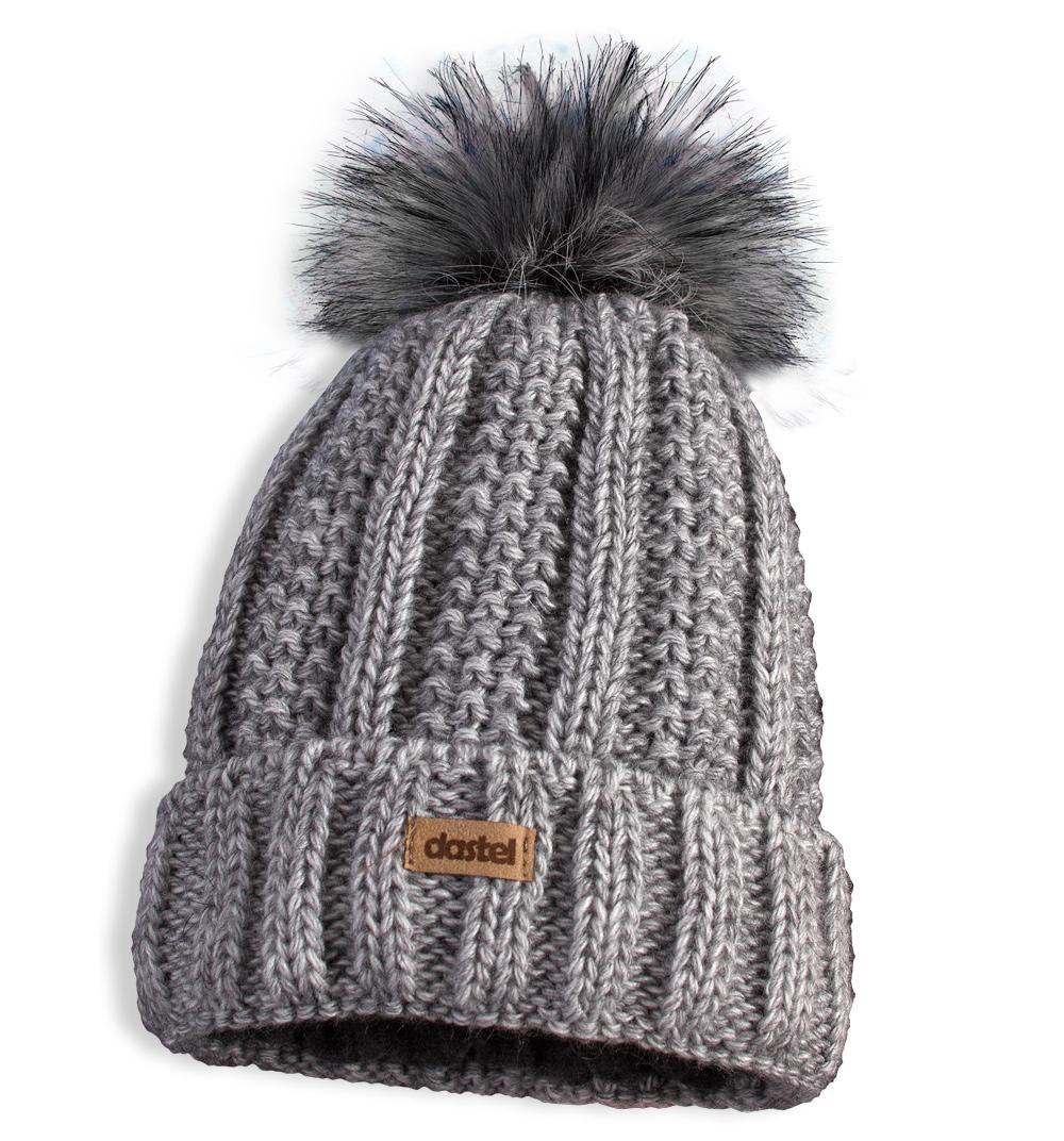 Dívčí zimní čepice s nákrčníkem DASTEL CASTING šedá Velikost  52-54 029d694871