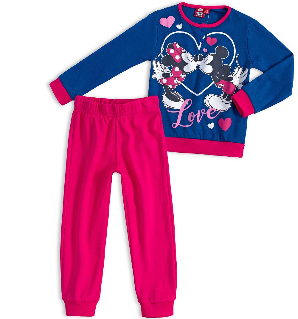 Dívčí pyžamo DISNEY MICKEY MOUSE MICKEY a MINNIE modré Velikost  104 5fcd3b30be