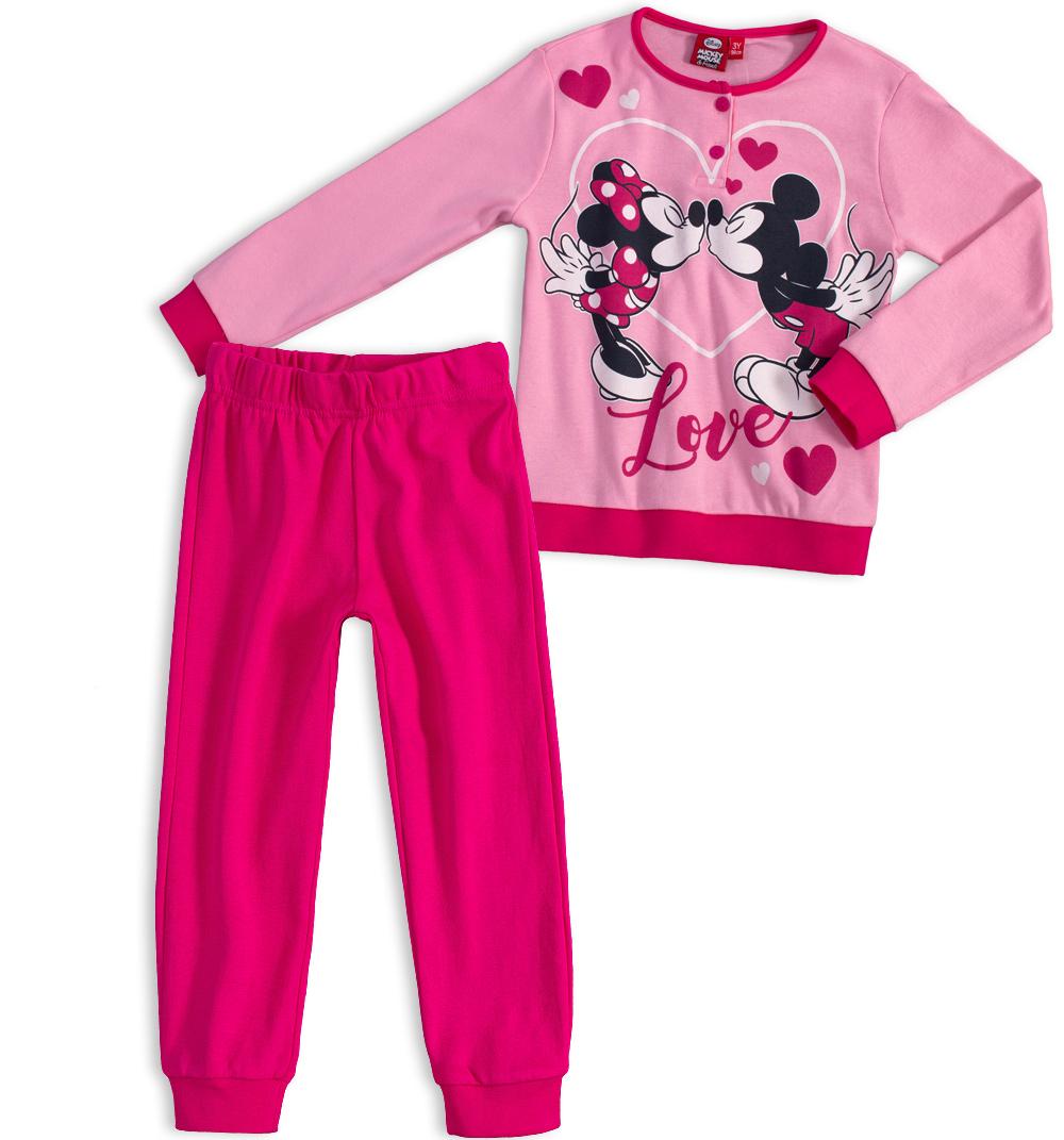 Dívčí pyžamo DISNEY MICKEY MOUSE MICKEY a MINNIE růžové Velikost: 116