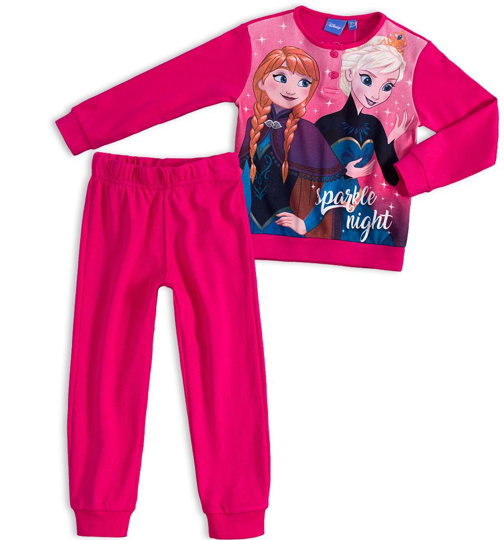 Dívčí pyžamo DISNEY FROZEN ANNA a ELSA tmavě růžové Velikost: 98