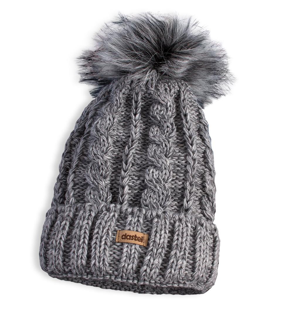 Dětská pletená zimní čepice DASTEL PLEJADA šedá Velikost: 50-52