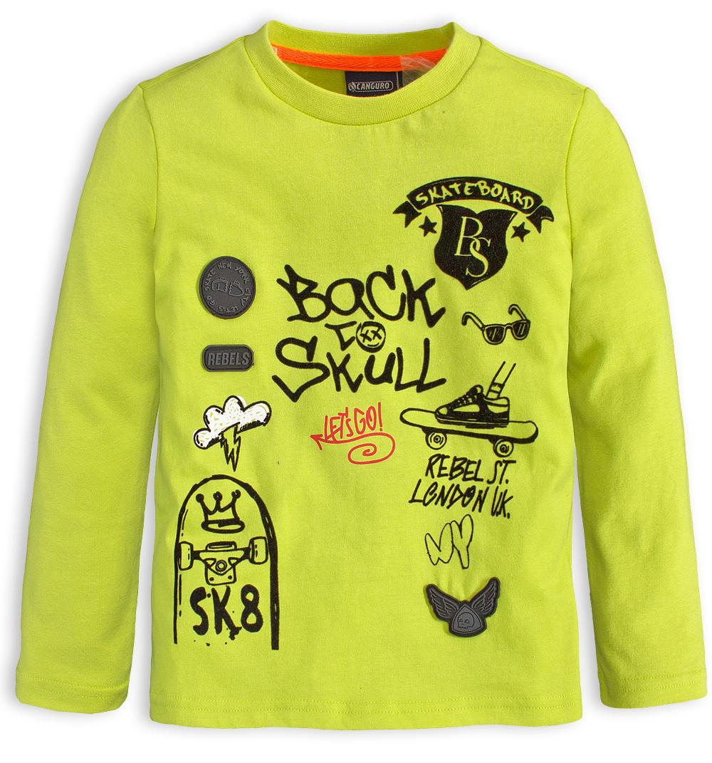 Chlapecké tričko CANGURO SKATEBOARD neon Velikost: 152