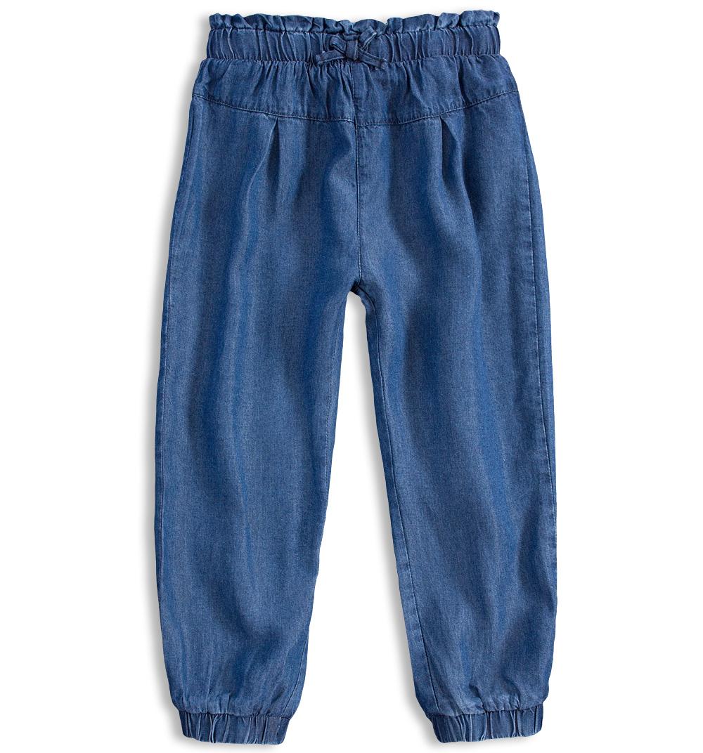 Dívčí volné kalhoty MINOTI RAINFOREST modré Velikost: 98-104