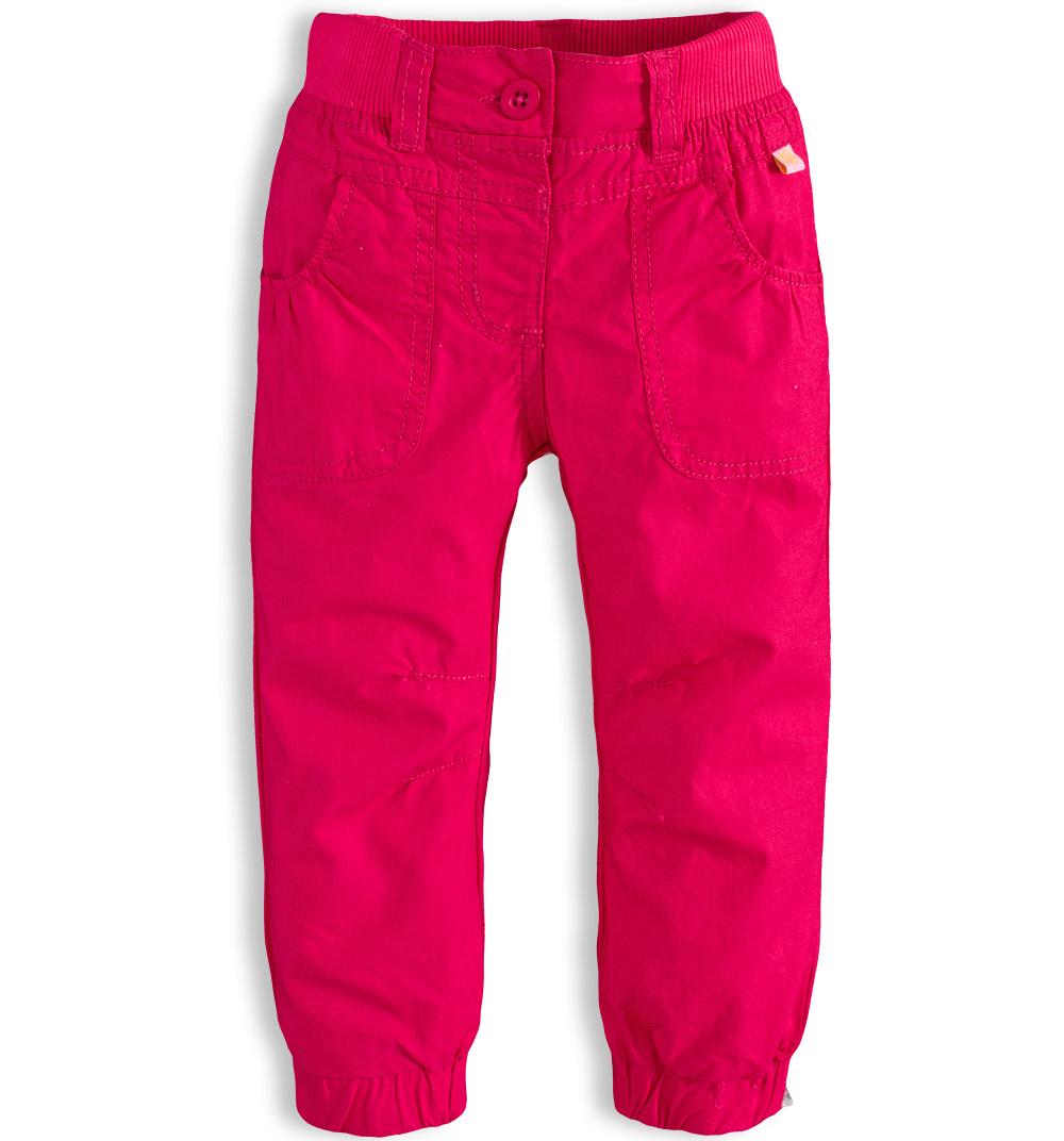 Dívčí plátěné kalhoty PEBBLESTONE ROSE růžové Velikost: 68