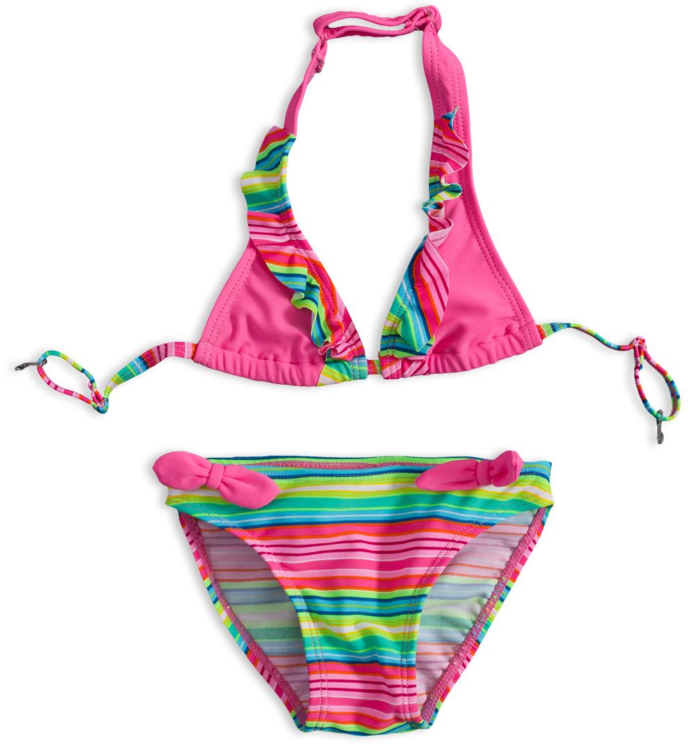 Dívčí plavky PEBBLESTONE SUMMER STRIPE růžové Velikost  92-98 137c5c4448