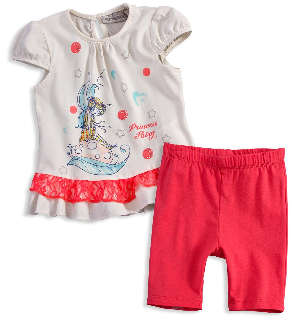 Letní souprava pro holčičky Mix´nMATCH PRINCESS coralová Velikost: 80