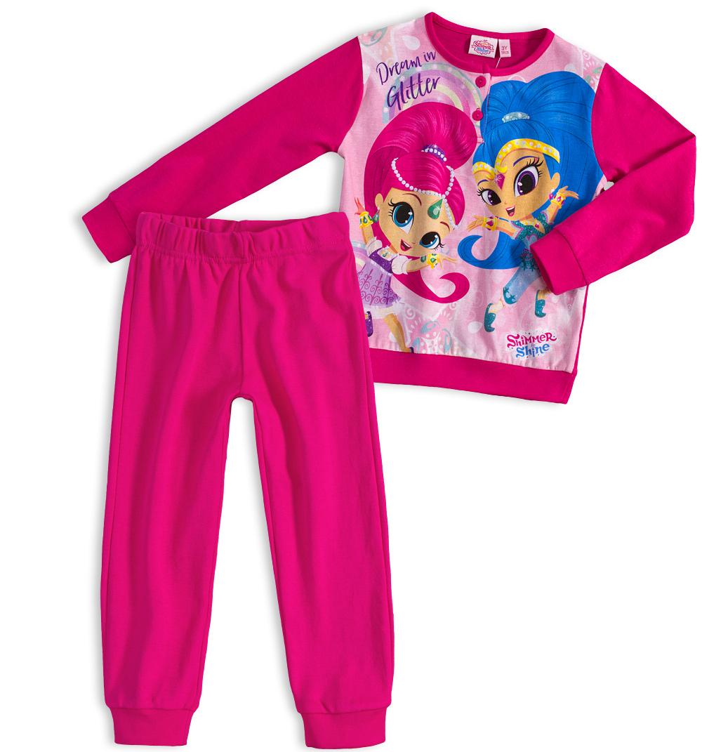 aa69f9d87426 Dívčí pyžamo SHIMMER   SHINE DREAM tmavě růžové Velikost  122