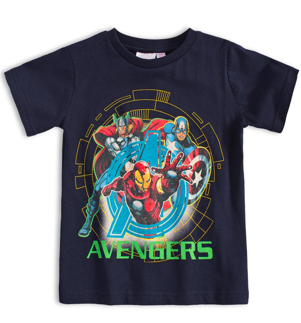 Dětské tričko MARVEL AVENGERS IRON MAN modré Velikost: 98