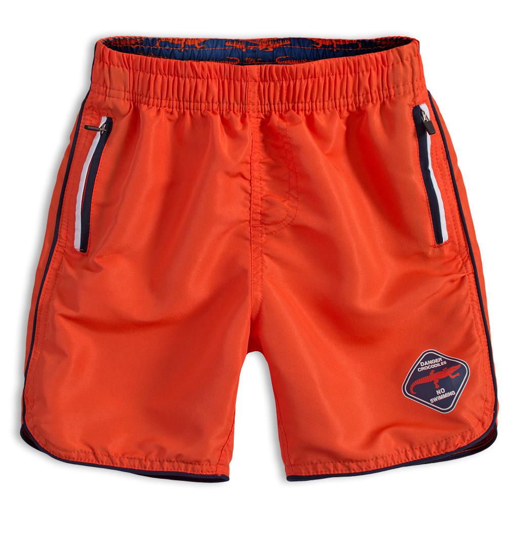 Chlapecké koupací šortky KNOT SO BAD DANGER oranžové Velikost: 140