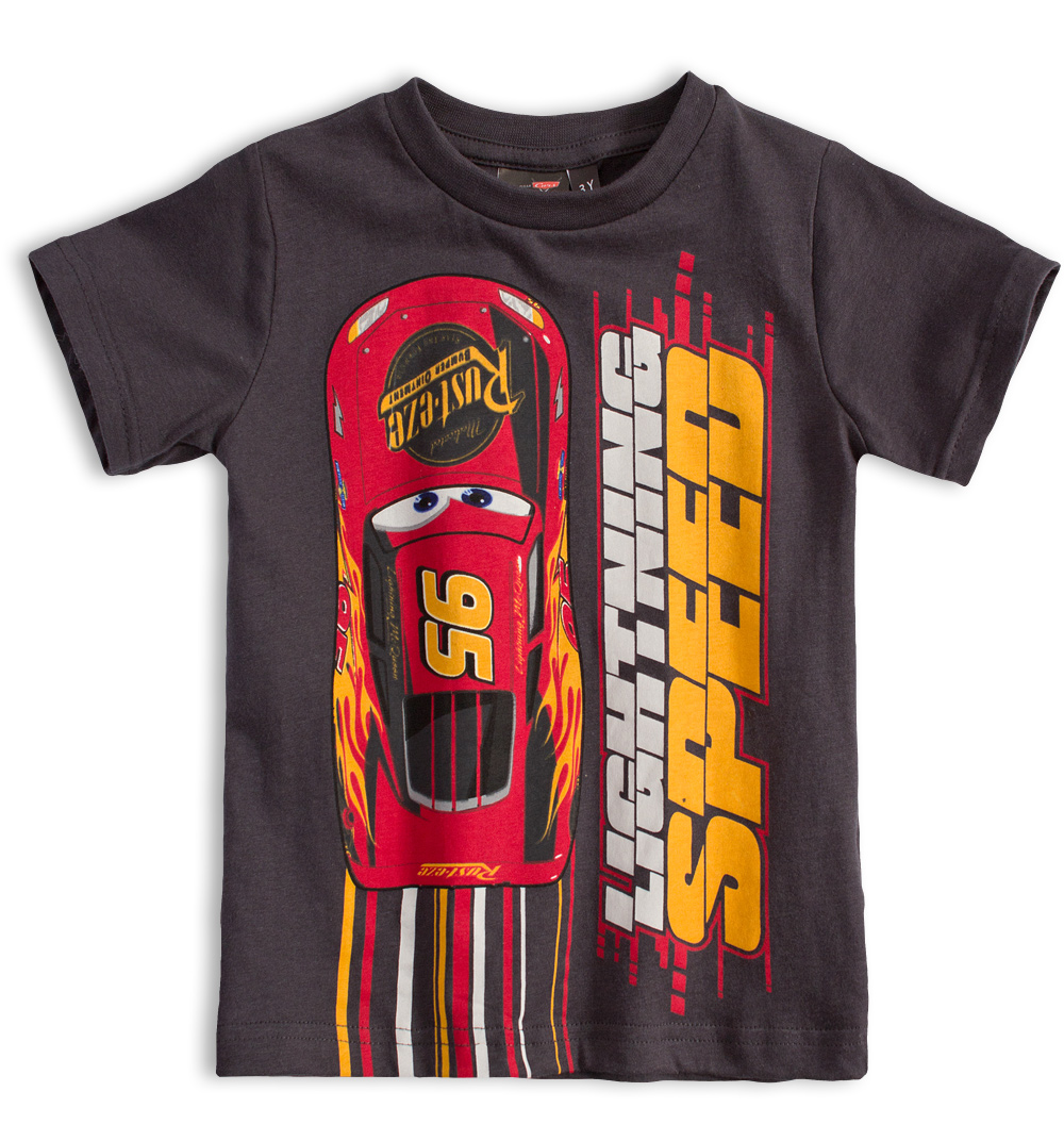 DISNEY CARS Chlapecké tričko DISNEY AUTA šedé Velikost: 98