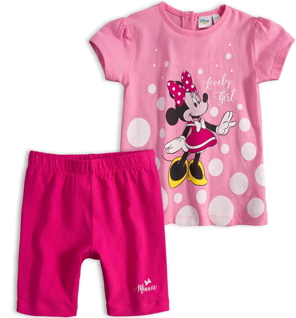Dětská letní souprava Disney MINNIE LOVELY GIRL růžová Velikost: 86
