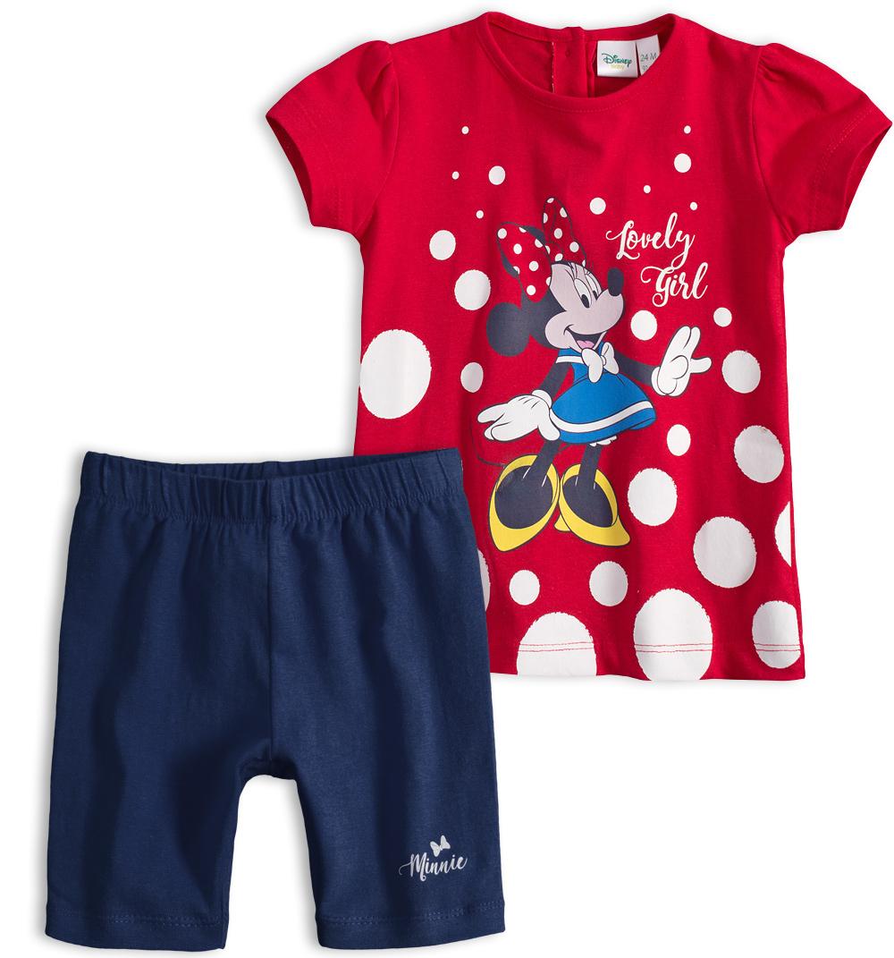 Dívčí letní souprava Disney MINNIE LOVELY GIRL červená Velikost: 92