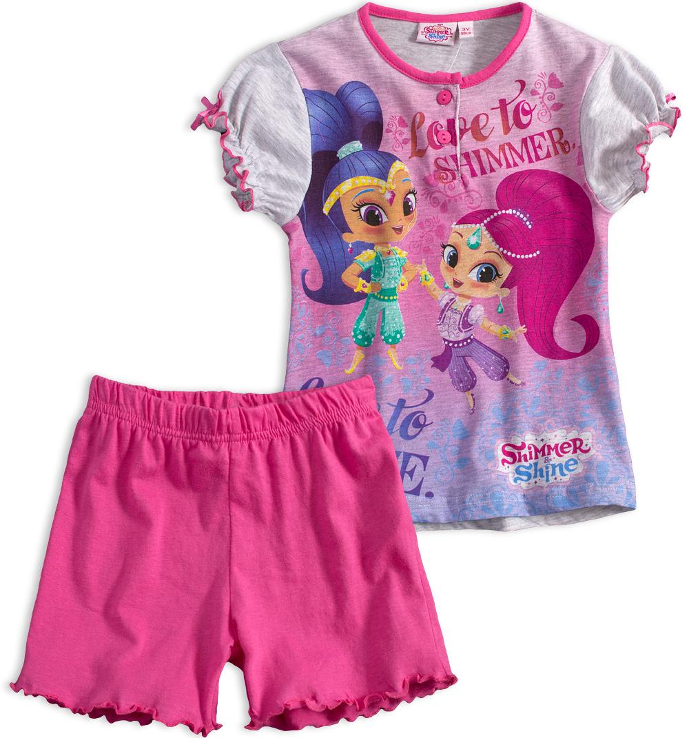 Dívčí letní pyžamo SHIMMER & SHINE LOVE růžové azalea Velikost: 98