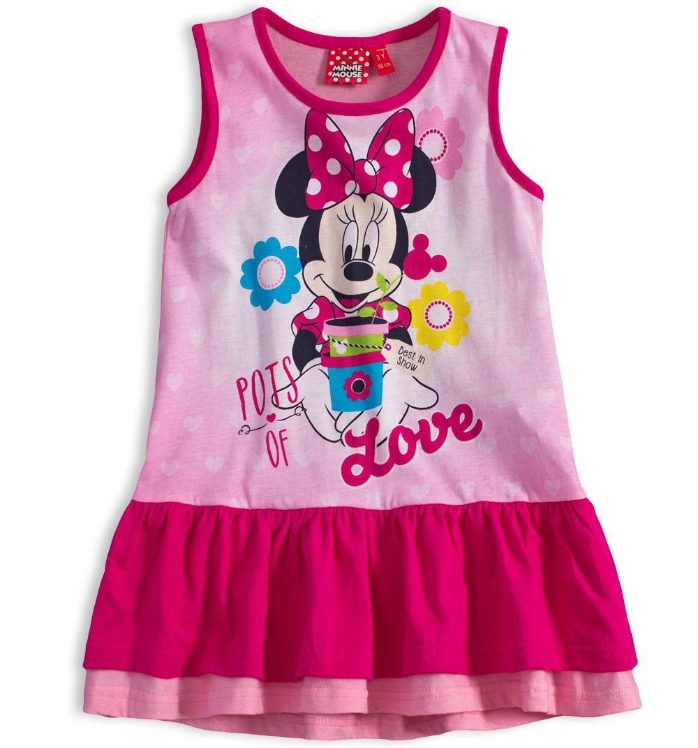 03101d13f464 Dívčí letní šaty Disney MINNIE GARDEN růžové Velikost  98