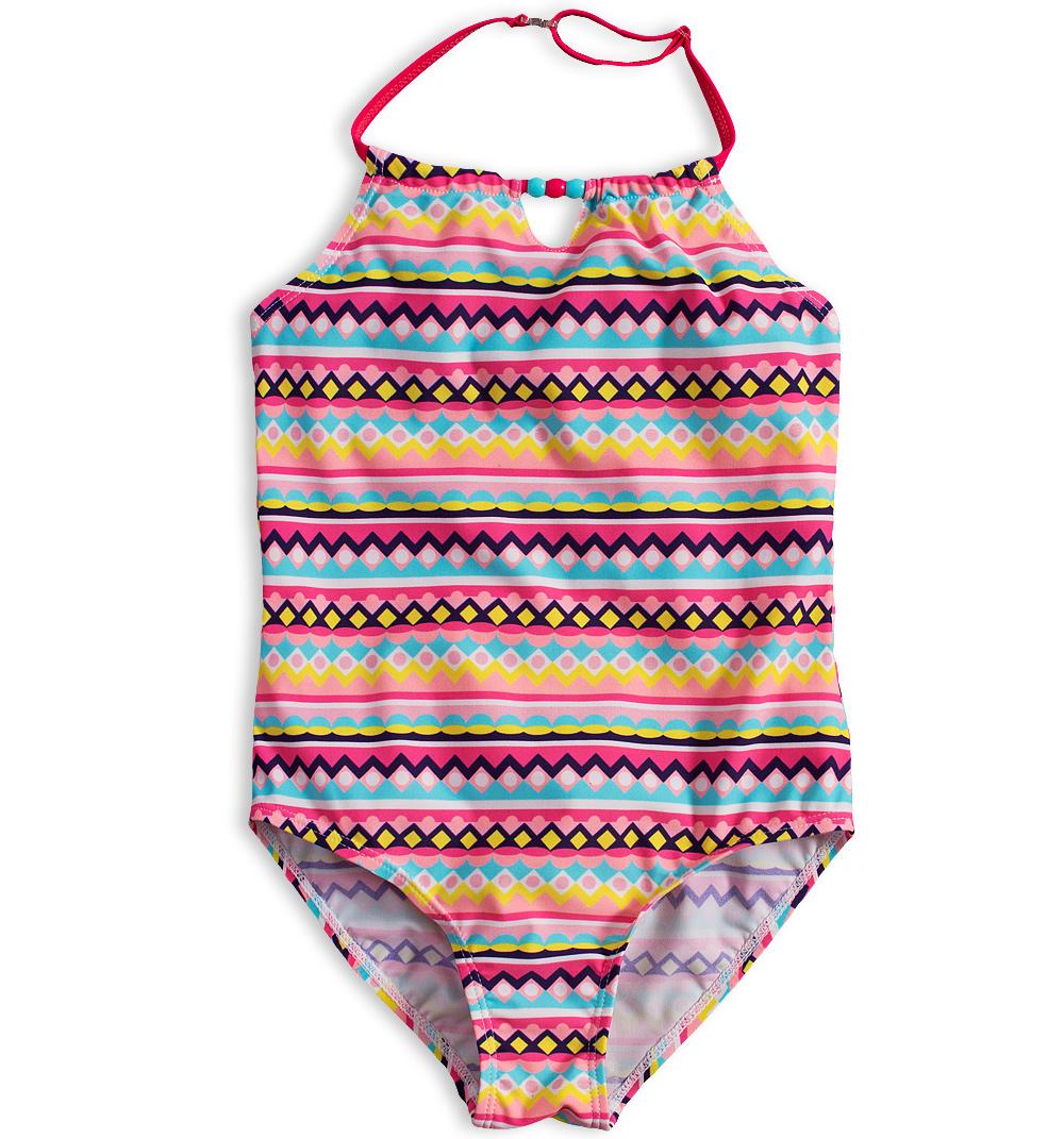 Dívčí jednodílné plavky KNOT SO BAD MAYA růžové Velikost: 140