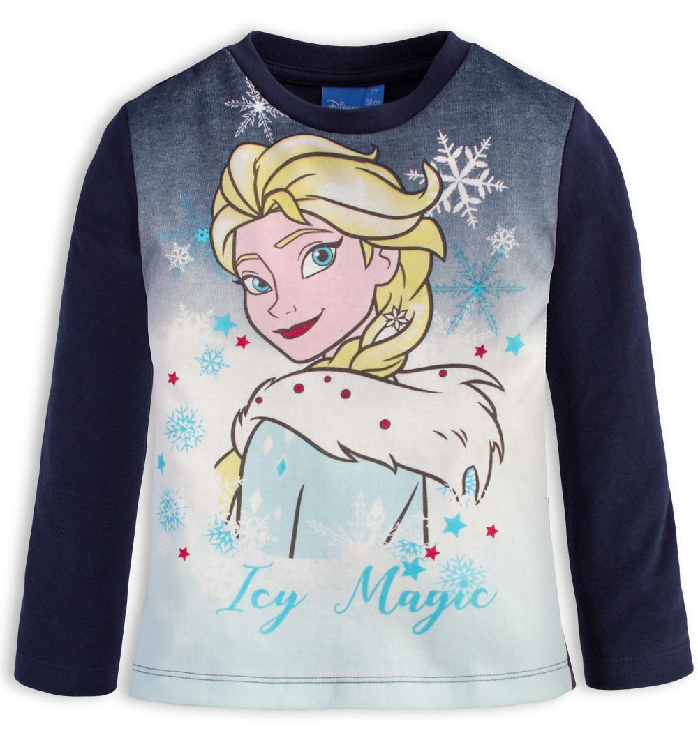 Tričko pro holčičky DISNEY FROZEN ICY MAGIC modré Velikost: 98