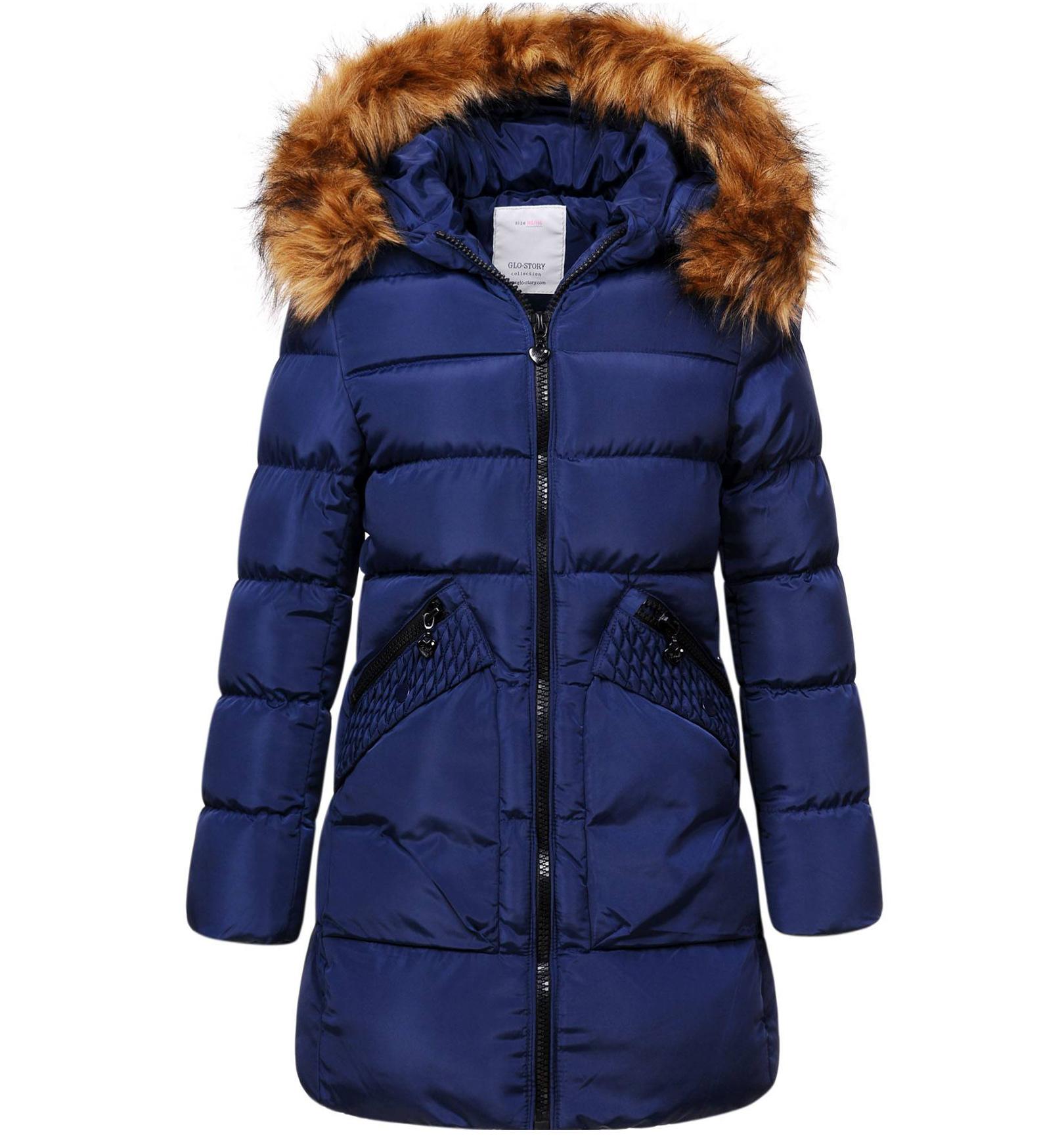 Dívčí zimní kabát GLO STORY GIRL 96 tmavě modrý Velikost: 134
